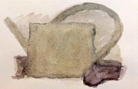 vie silencieuse, aquarelle, 2001, 28 x38 cm