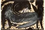 François Burland. Sphinx. 2006. Aquarelle et néocolor sur papier. 40x60cm