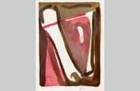 Bram van Velde, lithographie 1980, 87x62cm