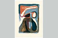 Bram van Velde, La nuit, lithographie 1963, 65x47cm