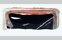 Bram van Velde, lithographie 1975, 33x64cm