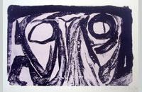 Bram van Velde, lithographie 1963, 50x66cm