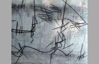 Léman 1, pointe sèche sur chine collé, 80.5x71