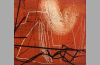 Nomade 10, pointe sèche sur chine collé, 30x27.8cm, 2012