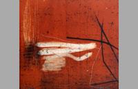 Nomade 9, pointe sèche sur chine collé, 30x27.8cm, 2012