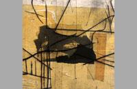 Sur le sable , pointe sèche sur chine collé, 40.5x30.5 cm, 2011
