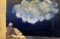 Venez voir, le ciel est plein de poils, Acrylique sur toile, 2014, 73 x92 cm