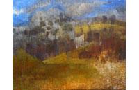 paysage source, roche et buis 80F 114x146cm
