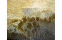 paysage, soleil, soir Ardèche 12F 50X61cm