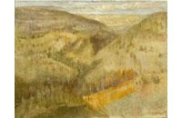 paysage avec verger 12F 50X61cm