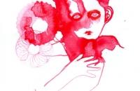 Enfant rouge, dessin-encre, 21x29,7cm, 2016