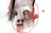 Enfant sauvage 2, dessin-peinture 21x29,7cm, 2016