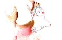 Sirène, dessin-encre, 21x29,7cm, 2016