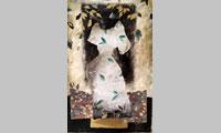 Grande robe, monotype, 2015, 90 x51 cm