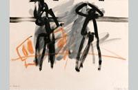 Francine Simonin, Les chaises 4 , 1986, encre,56 x76 cm