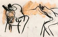 Francine Simonin, Buto, 1986, encre, 35.5 x56 cm