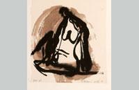 Francine Simonin, Gogo girl, 1988, encre 45.5 x31.5 cm
