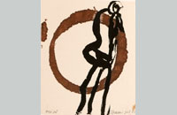 Francine Simonin, Gogo girl, 1988, encre, 45.5 x31.5 cm
