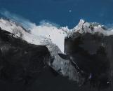 Paysage-pensées II 100 x 122 cm