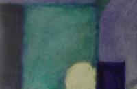 Vie silencieuse , acrylique sur papier, 70 x 90 cm