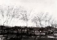"""""""seeland"""", encre et fusain sur papier, 50x70cm, 2017"""