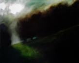 La trouée, huile sur toile, 80 x 54 cm, 2017