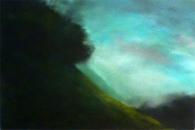 A flanc de colline, huile sur toile, 54 x 80 cm, 2017