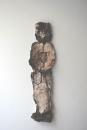 Homme, technique mixte sur papier, 86 x 23 cm