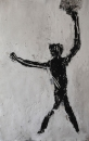 Monotype,technique mixte sur papier, 76 x 49 cm