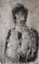 Monotype, technique mixte sur papier, 61 x 39 cm