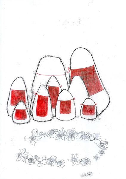 Balise en groupe bavette rouge A4
