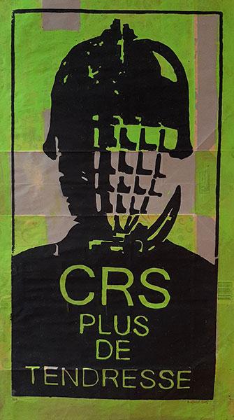 CRS plus de tendresse, 2016, gravure sur papier industriel, 92x 50 cm