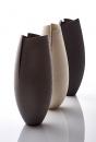 Three cut and altered vessels, 44 cms Hgt- ceramics, handbuilt,2017 © Sylvain Deleu