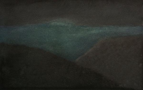 Nuit - aquarelle sur papier, 16 x 25 cm, 2018
