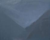 Vallée, soir (III) - huile sur toile, 73 x 92 cm, 2017