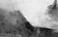 Brume, nuit - gouache sur papier 19 x 28 cm, 2018