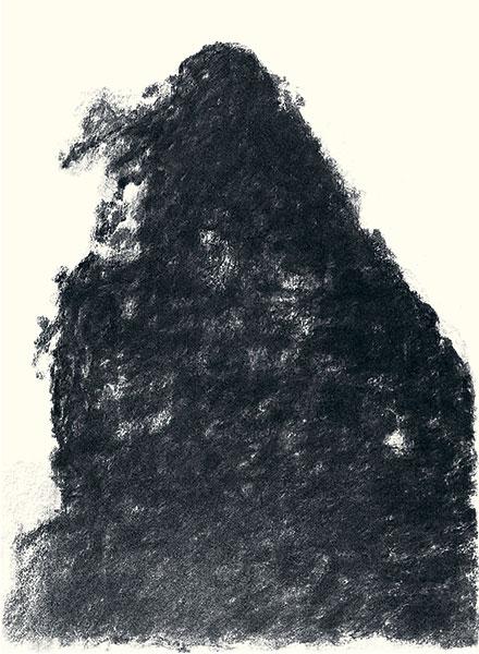Félix Studinka - Chestnut Journal p.109, fusain sur papier, 29,7 x 21 cm