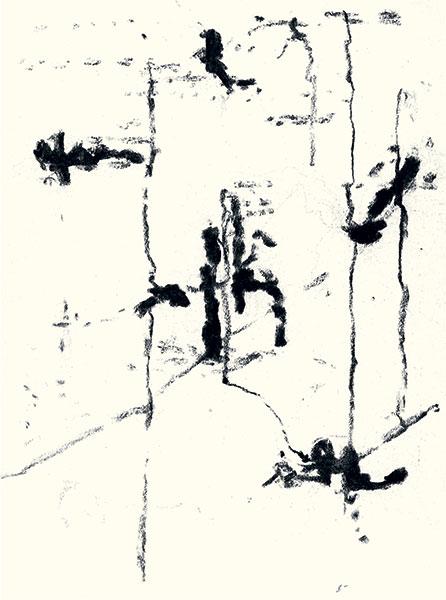 Félix Studinka - Chestnut Journal p.135, fusain sur papier, 29,7 x 21 cm