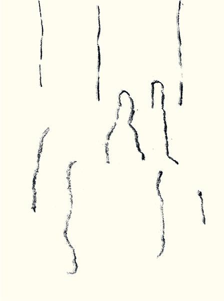 Félix Studinka - Chestnut Journal p.201, fusain sur papier, 29,7 x 21 cm
