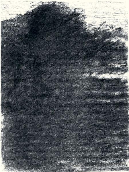 Félix Studinka - Chestnut Journal p.31, fusain sur papier, 29,7 x 21 cm