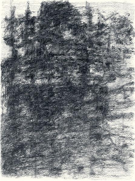 Félix Studinka - Chestnut Journal p.48, fusain sur papier, 29,7 x 21 cm