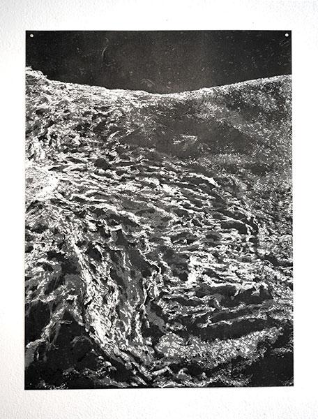 Sans titre, 2019, monotype sur papier, 94 x 69 cm