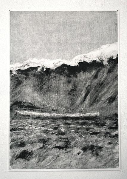Sans titre, 2019, monotype sur papier, 55 x 38cm