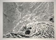 Sans titre, 2019, monotype sur papier, 38 x 54,5 cm