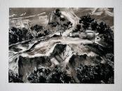 Sans titre, 2019, monotype sur papier, 28 x 40 cm