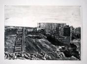 Sans titre, 2019, monotype sur papier, 38 x 54 cm