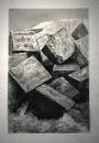 Sans titre, 2019, monotype sur papier, 118 x 76 cm