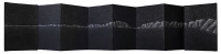Leporello, fuaisn comprimé sur papier, 2018, 15X78,7 cm