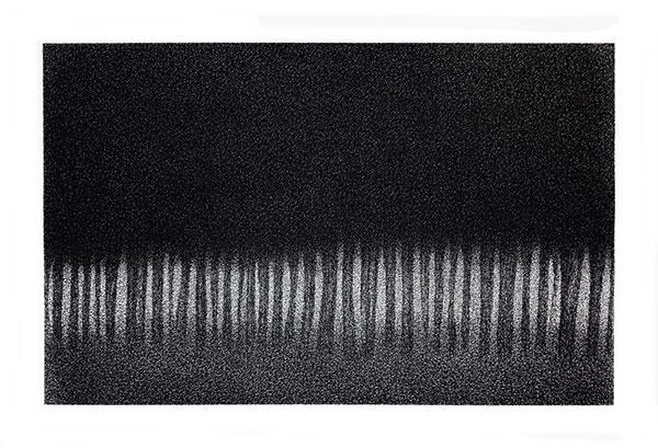 Fusain comprimé sur papier, 2018, 75X110 cm