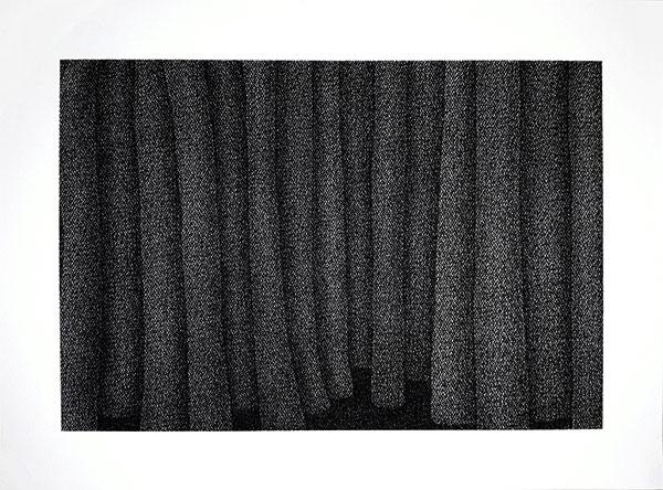 Fusain comprimé sur papier, 2019, 56X76 cm